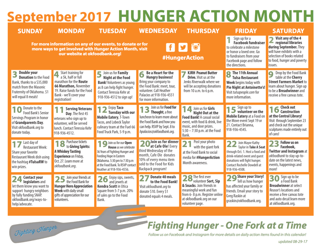Junior League of Tulsa supports Hunger Action Month at the Oklahoma Food Bank
