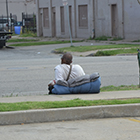 homeless man in Tulsa